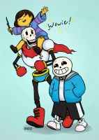 My two favorite Skelebros by Draw-out-loud