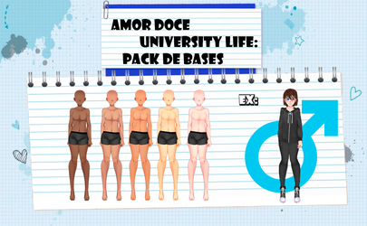 Amor Doce UL--Pack de Bases Masculinas by Helyra