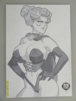 Jean Grey Black Queen A4 greytone sketch by SSaruman