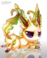 =Pokemon= Chibi Leafeon by LeoKatana