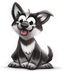 Daily Paint 666. Puppy.jpeg by Cryptid-Creations