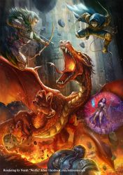 Dungeons and Dragons: Red Dragon by Wolfie-chama