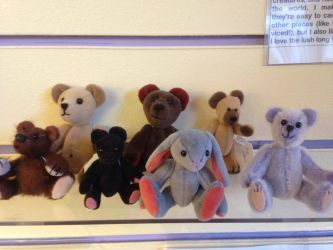 my bears in Sally's shop - the minis by Snow-Chen