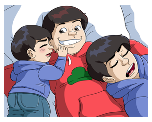 Older Brothers and Baby by Jaymzeecat