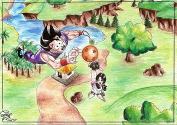 Gohan and Videl by Videl90