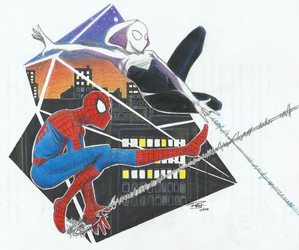 Spider-man and Spider-Gwen by Kateryu-EP
