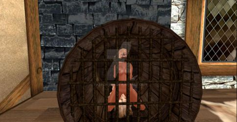 A Barrel of Naked Slave Girl by patpowers