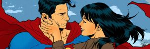 Superman banner for Blastoff Comics by elena-casagrande
