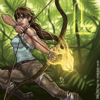 L is for Lara Croft by cirgy