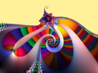 Rainbow Spiral with Attached Hook by bobm
