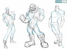 Character Design Game Sketch by juarezricci