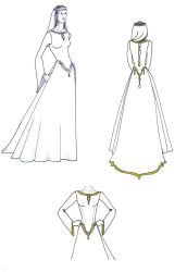 Celtic wedding dress design by keira-bloom