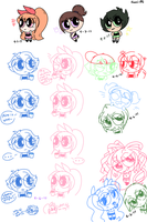 Crappy PPG Doodles by crystal-sn0w