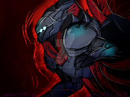 Aksis Prime [Midnight Sketch] by Steel-Vandal