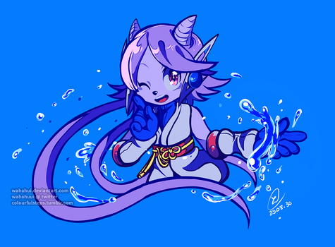 Watery Dragon by wahahui