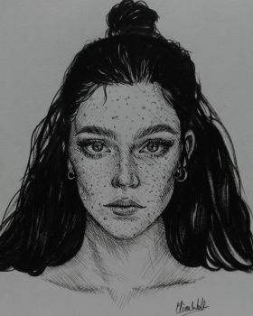 Sketch with fineliners by mirawoll