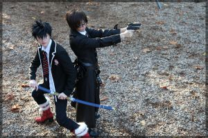 Ao no Exorcist- Rin and Yukio by twinfools