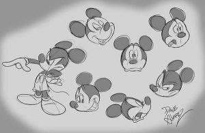 Mickey Mouse studies by yours truly.  by DaveAlvarez