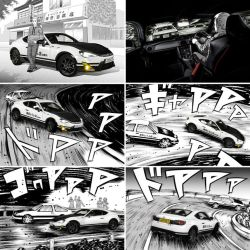 Official Toyota GT86 Initial D Homage promo art by sonialeong