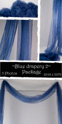 Blue drapery Package 2 by almudena-stock