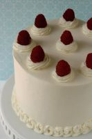 Peach Raspberry Mousse Cake 1 by bittykate