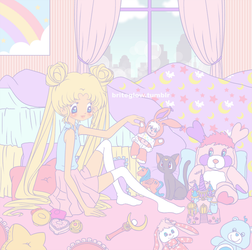 Usagi's Room by briteglow