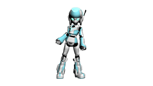 Android Girl Posed by CrimsonStrife