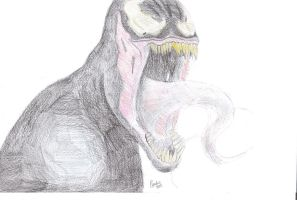Venom drawing by BroodjeKipkorn