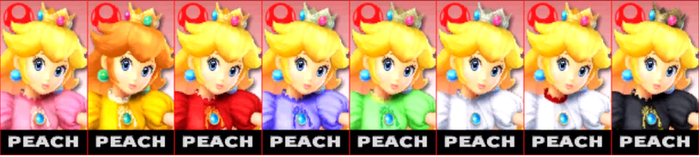 SSB4: Peach Comtuse (player) by TheZeldaFan22