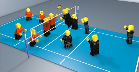Volleyball Match by plumbit