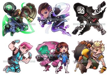Chibi Overwatch Charms by RinTheYordle