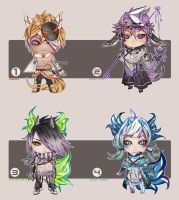 3 HOURS LEFT (OPEN) 24H CHIBI BATCH-Crystalhorns by ilaBarattolo