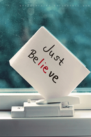 just be.lie.ve by maskqueraide