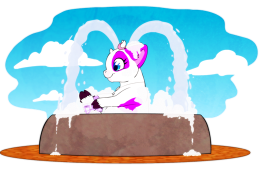 WN : Soap in a Fountain by HoppityandBee