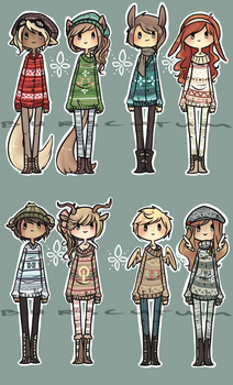 Auction : Christmas Sweaters ! [ closed ] by Burscutum