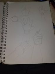 Trying to better draw hands by macrossmecha