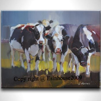 Cows Painting by esinhouse2009