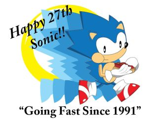 Happy 27th Sonic! by gemstonelover49
