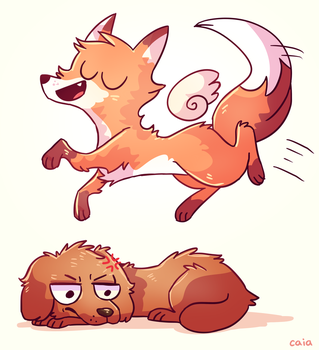 The Quick Brown Fox Jumps Over the Lazy Dog by Caia-Mei