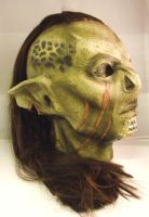 Orc mask - Red hair, facial scars by Mandala-Studios