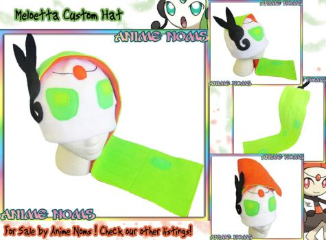 Meloetta Custom Hat by AnimeNomNoms