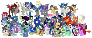 /mlp/ Bat Pony Family Photo by VectorVito