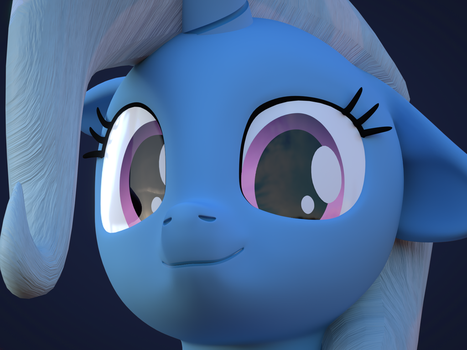 [Blender]: Trixie Face by CottonPonySFM