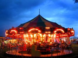 The Carousel at Night by Tara by taralse