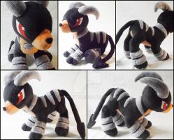 Houndoom Plush Commission by nightelfy