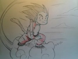 Goku Sketch by MikeES