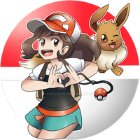 Pokemon Let's Go (Female Trainer and Eevee) by Aquazeem