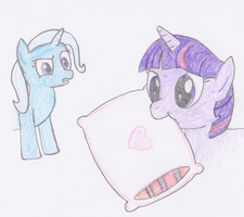 Twilight Munching on a Pillow by Ash243x