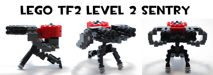 Lego TF2 Level 2 Sentry by HybridAir