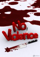 No Violance 3D Poster Design by MAEDesign
